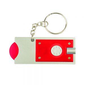 זיקס- מחזיק מפתחות פנס לד ומטבע נשלף לשחרור עגלות