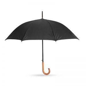 אקפלה – מטריה עם מוט מתכת, ידית אחיזה סבא מעץ 23 אינץ'