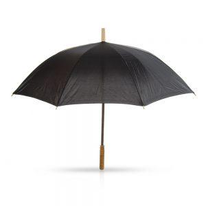 סולו – מטריה עם מוט מתכת,ידית אחיזה מעץ 23 אינץ'