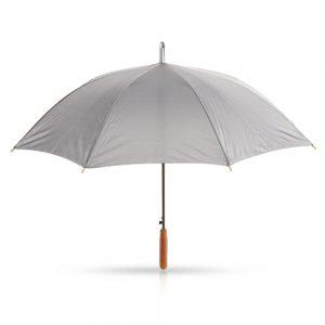 מלודי – מטריה עם מוט מתכת, ידית אחיזה מעץ 25 אינץ'
