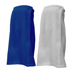 קומפורט לבן – חצי חלוק מגבת עם סקוץ' לבן
