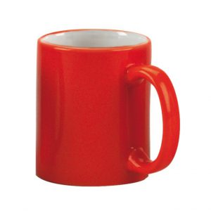 מאג אדום פנימי לבן- ספל שתיה מ