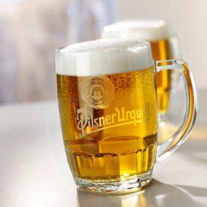 באמברג – כוס זכוכית לבירה , יד