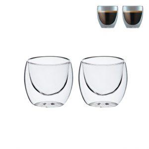 ברזיל- זוג כוסות זכוכית עם דופ