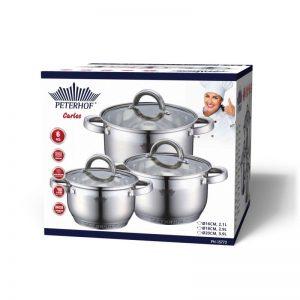סט סירים יוקרתיים בעיצובים חדשנים לשמירה על איכות הבישול PH-15772 PETERHOF.