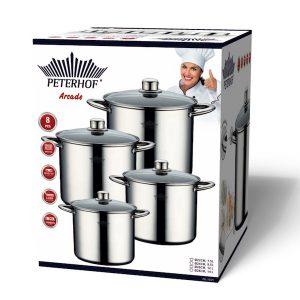 סט ארבעה סירים לבישול איכותי במגוון גדלים פטרהוף PH-15171 PETERHOF.