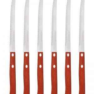 סט 6 סכיני סטייק איכותיים עם ידיות עשויות מעץ איכותי PH-22431 PETERHOF.
