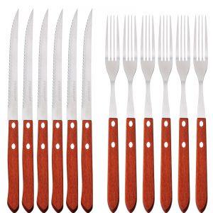 סט 6 סכינים ו6 מזלגות סטייק PH-22432 PETERHOF.