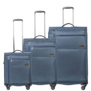 סט מזוודות כחול NANO