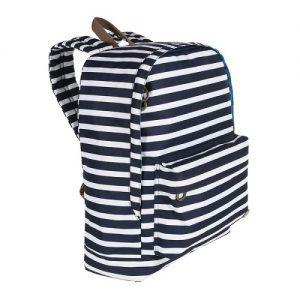 תיק גב Daypack פסים כחול לבן